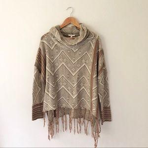 Mystree Fringe Cowl Sweater